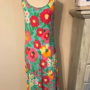 Lilly Pulitzer floral maxi dress.